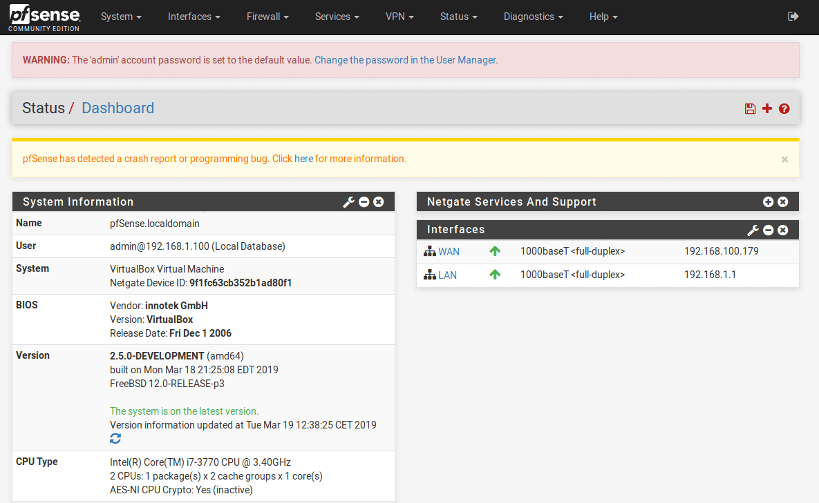 dashboard-pfsense
